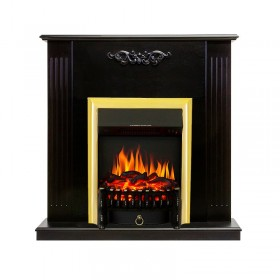 Каминокомплект Lumsden Венге с очагом Royal Flame Fobos FX Brass