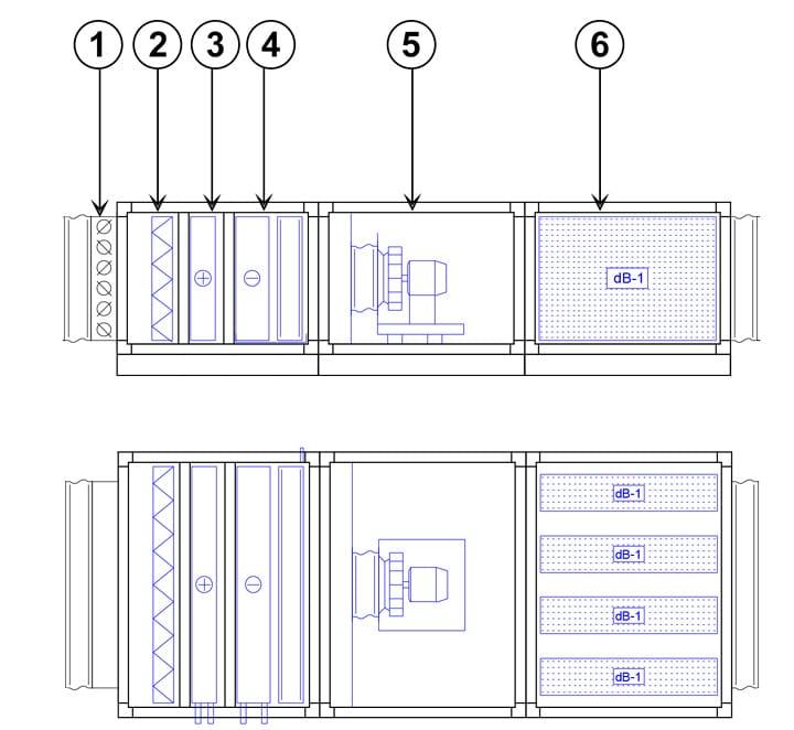 Схема приточной вентиляционной